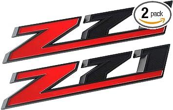 Chrome black 2Pcs Z71 Emblem Decal Replacement for GM Chevy Silverado 1500 2500HD Colorado Sierra Tahoe Suburban 10.3