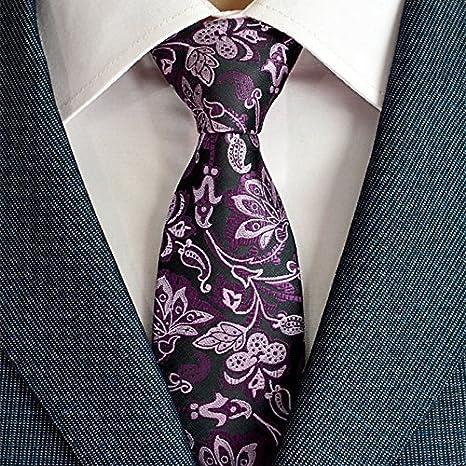 HYCZJH Corbatas de Hombre para Trajes Corbatas Plaid Corbata ...