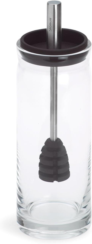 Lattice Textured Glass Kitchen Storage Jar with Copper Lid 1.4 ...