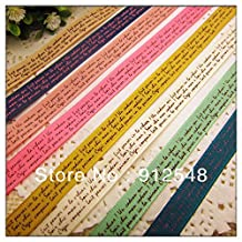 "FunnyCraft 16 Yards 3/8"" (9Mm) Printed English Letters Ribbon Jewelry Accessory Diy Hair Ornament Materials 8 Color Mix"