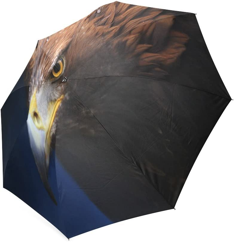 Custom Eagles Compact Travel Windproof Rainproof Foldable Umbrella