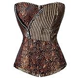 Search : KIWI RATA Womens Sexy Steampunk Dress Boned Corset For Waist Training Bustier Lace Up Plus Size