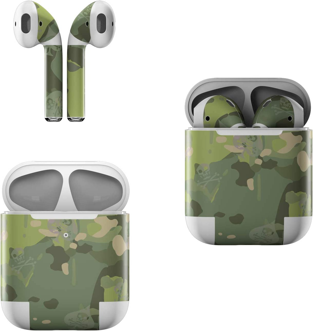 Skin Decals for Apple AirPods - SOFLETE Tropical Multicam - Sticker Wrap Fits 1st and 2nd Generation