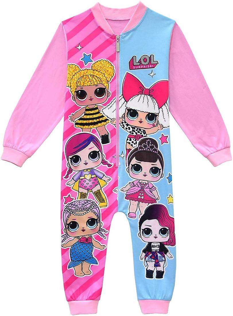 ShiJinShi LOL Surprise Pyjama pour Petites Filles Rose Rouge 3-8 Ans