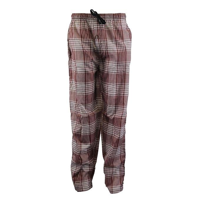 Para hombre 2 bolsillo Tejido diseño de cuadros pantalones pijama Lounge pantalones antes de la idea