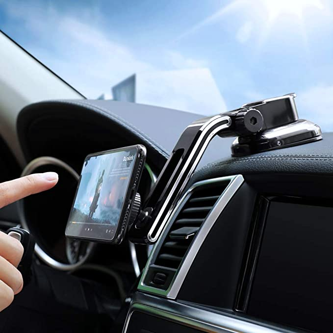 Dashboard Magnetic Car Phone Mount - FLOVEME Universal Strong Suction Cup 360 Hands Free Magnet Cell Phone Car Holder