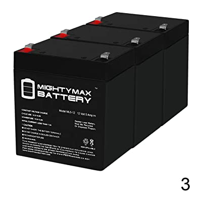 Mighty Max Battery Alarm Back up Battery 12 Volt 4.0ah - 3 Pack Brand Product: Electronics