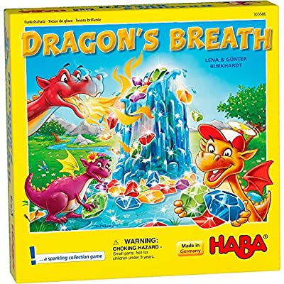 HABA Dragon's Breath - 2020 Kinderspiel des Jahres (Children's Game of The Year) Winner - an Exciting Collecting Game for 2-4 Players Ages 5+: Toys & Games