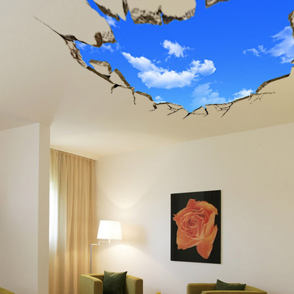 Buy Generic 3D Blue Sky Clouds Ceiling Wall Stickers Home DIY Art
