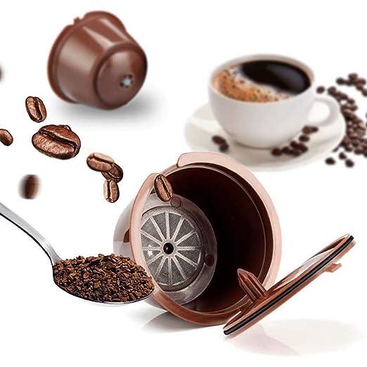 Xinhua488 - Juego de 3 Tazas de café Reutilizables con Cepillo y ...