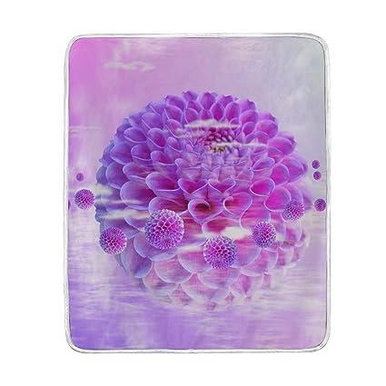 f9bff6a85ade Amazon.com: Lilibeely Ultra Soft Microplush Velvet Dahlia Pattern ...