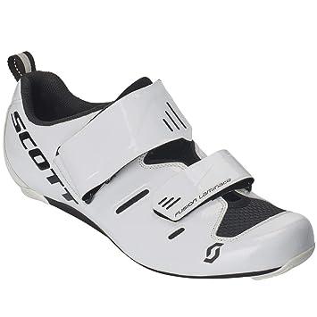 Scott Road Tri Pro Triathlon 2019 - Zapatillas de Ciclismo, Color Blanco y Negro: Amazon.es: Deportes y aire libre