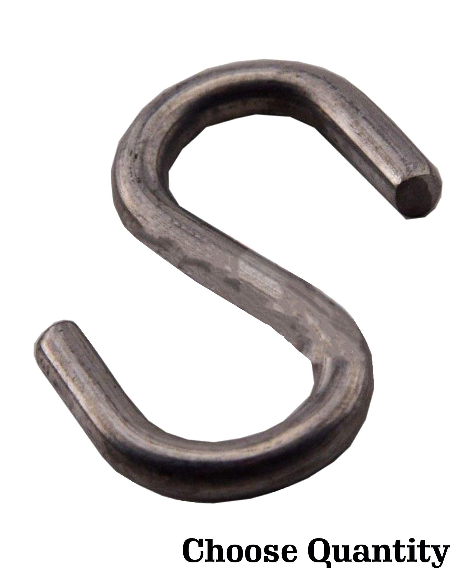 S Shaped Hooks S Hooks - Sash Chain S Hook, Zinc Finish, 1 Inch S Hooks for Hanging (25)