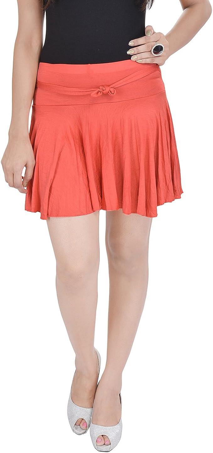 Soundarya - Mini Falda de Licra de algodón, Color Rojo: Amazon.es ...