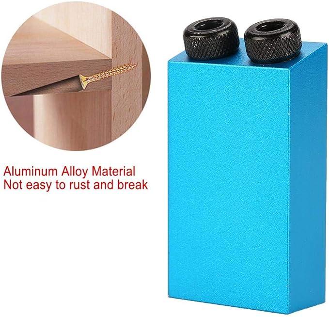Kit di maschere per tasca con foro da 15 gradi Posizionatore di fori obliqui in lega di alluminio con indicatore di posizione di perforazione