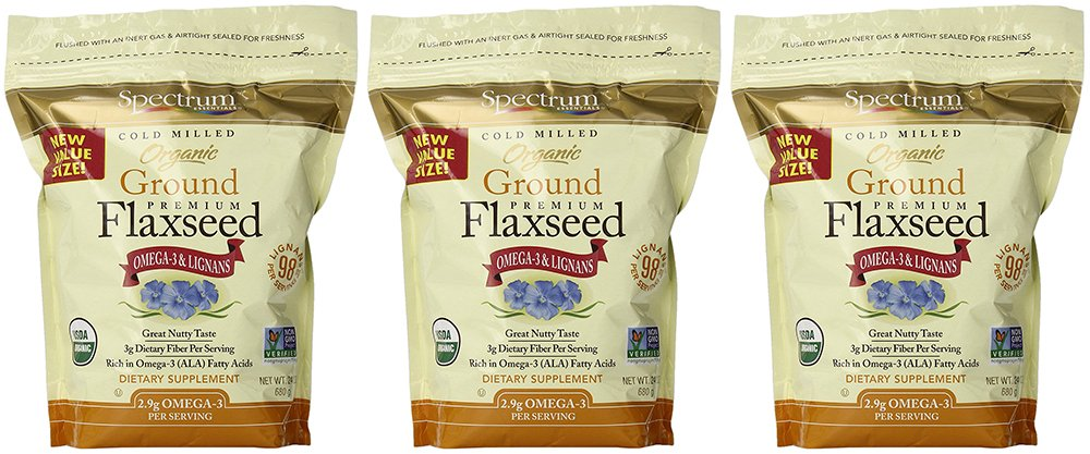 Spectrum Ground OlLBN Flaxseed, 24 Ounce (3 Pack)
