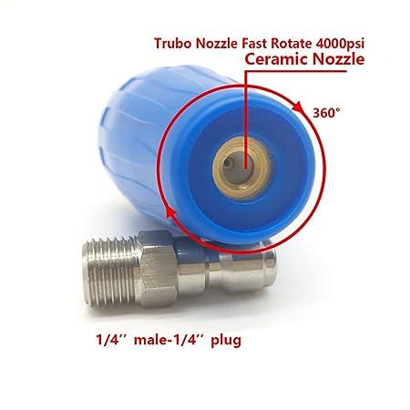 Boquilla turbo para limpiador a presión , yoking yk-4b25 N, 4000 PSI y # xFF0 C; 4.5gpm con 1/4