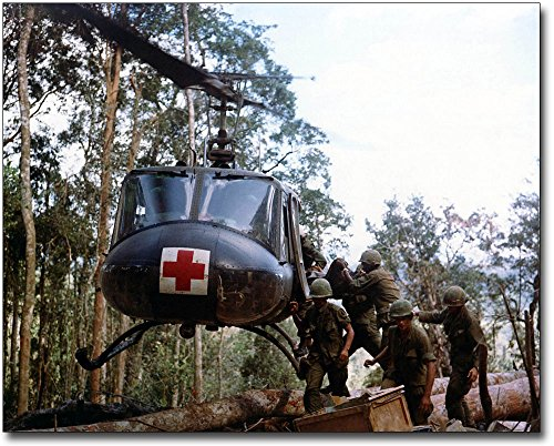 Bell UH-1 Huey Helicopter Medical Evacuation Vietnam 30x40 Silver Halide Photo Print