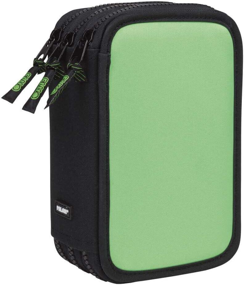 Estuche Milan Fluo Green Triple 53 Piezas: Amazon.es: Oficina y papelería