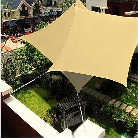LYYK Toldo Vela con Forma 6x8.5m, Toldo Vela Impermeable, Solar proTección Piel, 100% HDPE Resistente Transpirable para Jardín Patio Exteriores - Amarillo 185GSM: Amazon.es: Hogar