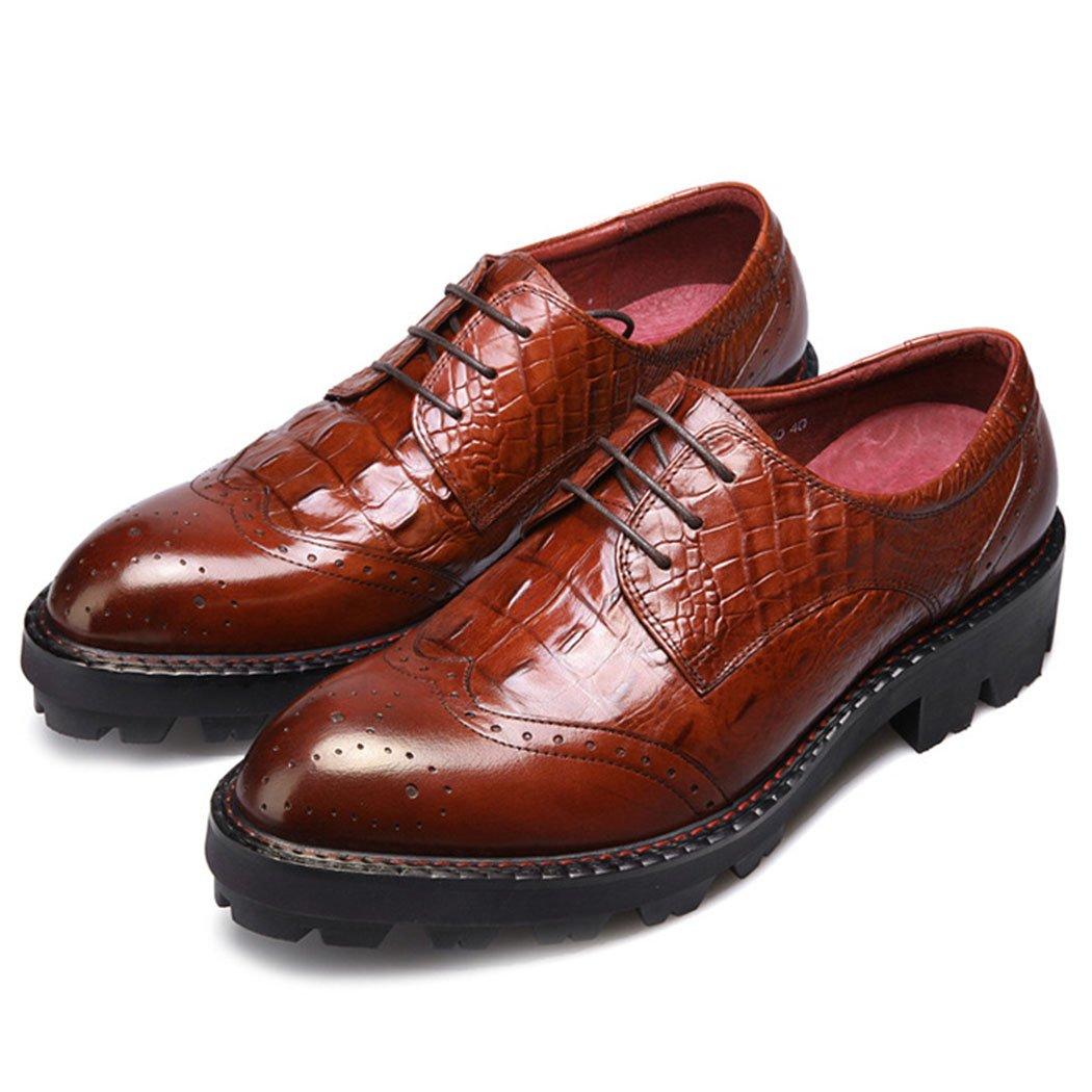 GAOLIXIA Zapatos Casuales de Cuero Genuino de los Hombres Zapatos de Bullock Zapatos de Trabajo Zapatos de Estilista de Moda Zapatos Casuales Británicos Negro Borgoña de Gran Tamaño 45|Borgoa