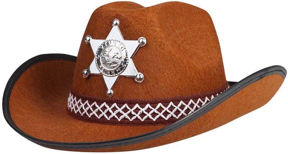 Boland 04107 Sombrero del sheriff de los niños, Tamaño único, marrón