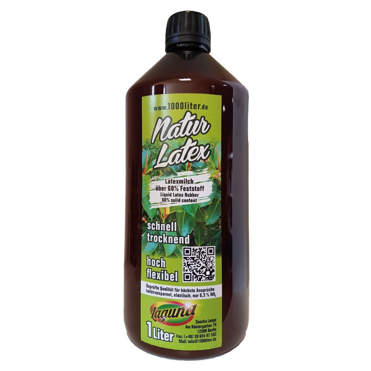 Liquid Latex Natural Latex 1000 ml Mask Maker Craft Green Line Latex Milk Latex 1 Litre Givul, Pre-Vulcanised Colok GmbH