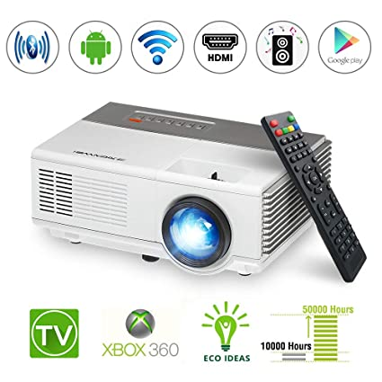 Portable LCD Android Wireless Mini Projector Support HD 1080P 720P LED  Smart WiFi Video Proyector with HDMI VGA USB Aux Audio for Mobile Phone DVD