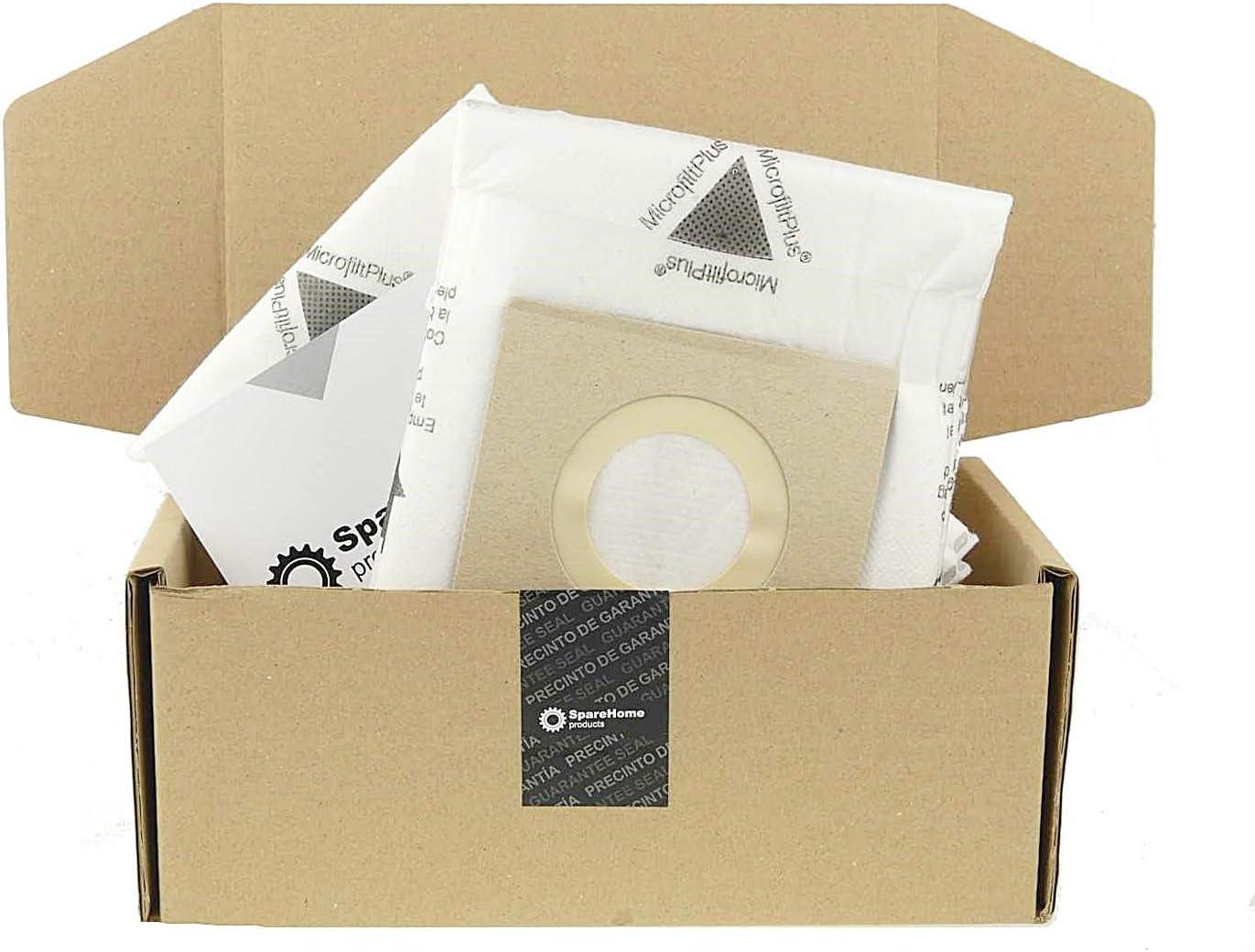 SpareHome 10 Bolsas 2 microfiltros recortables para Aspirador Hoover Telios Extra H81: Amazon.es: Hogar
