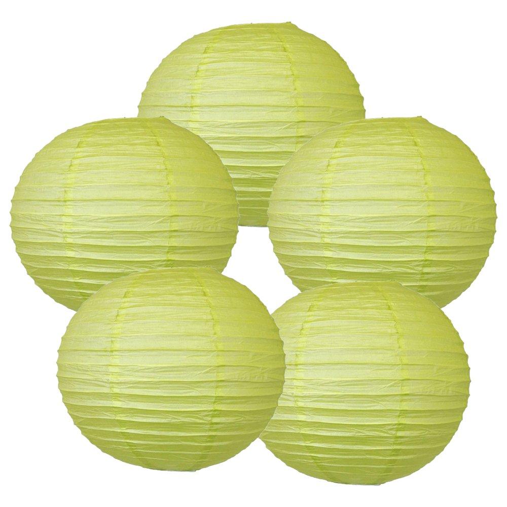 Just Artifacts ペーパーランタン5点セット - (6インチ - 24インチ) 10inch AMZ-RPL5-100008 B01CEX6TEG 10inch|Pistachio Green Pistachio Green 10inch
