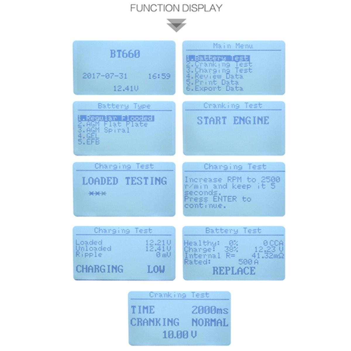 TuLanAuto 12V/24V Autool BT660 Battery Conductance Tester BT-660 Auto Battery Testers Automotive Diagnostic Tools For Heavy Duty Trucks, Light Duty Truck, Cars by TuLanAuto (Image #4)