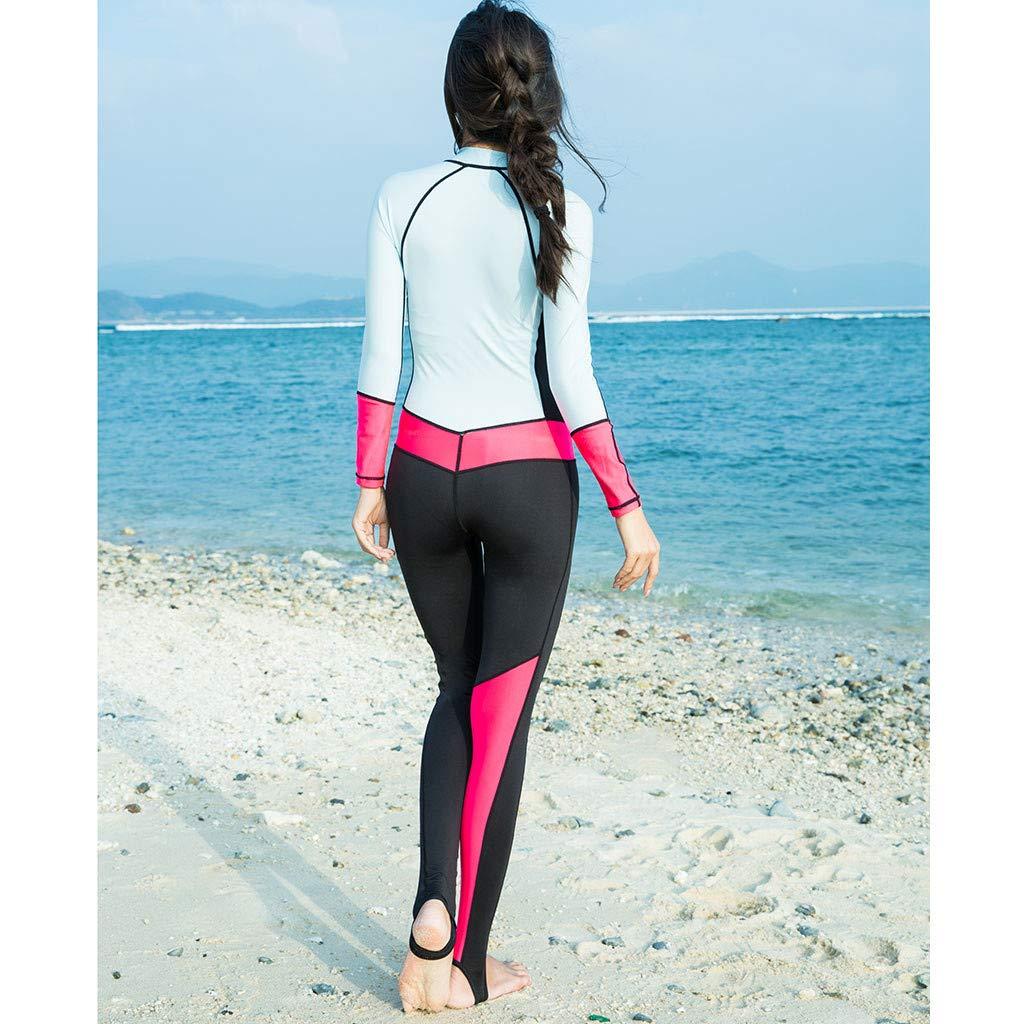 YEZIJIN Women 0.5mm Neoprene Long Sleeve Diving Wetsuit Spearfishing Suit Swimwear Wetsuit top Long/Short Sleeve Sky Blue by Yezijin_Swimsuit (Image #5)