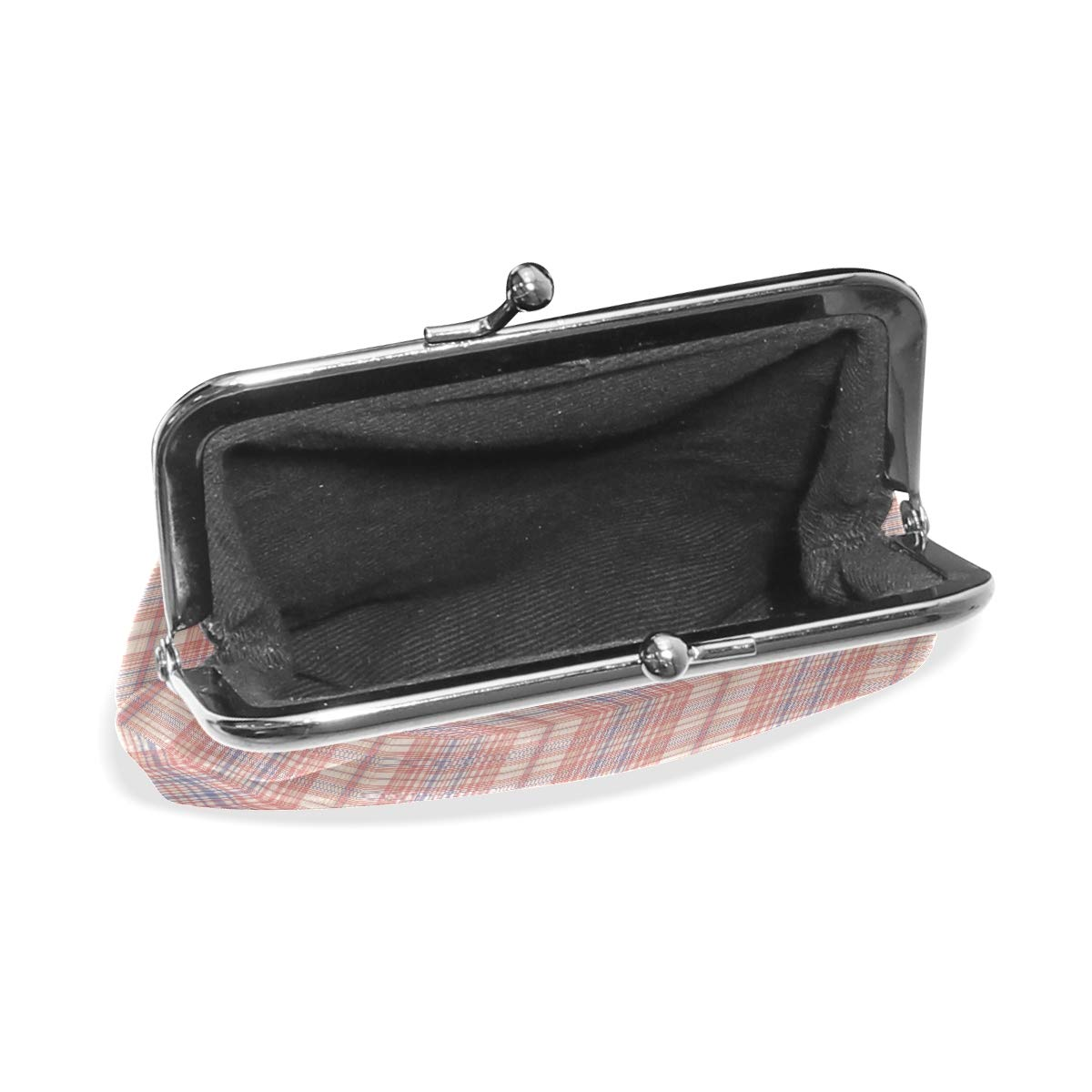 Exquisite Buckle Coin Purses Retro Plaid Pattern Vector Mini Wallet Key Card Holder Purse for Women