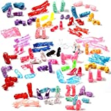Asiv® 60 Pairs Different High Heel Shoes Boots Accessories for Barbie Doll
