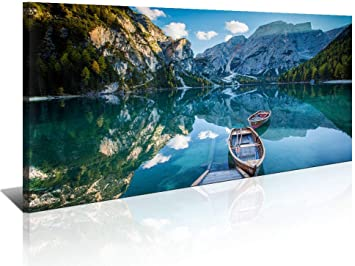 Morning On River Canvas Print 20*30 Inch HUGE !