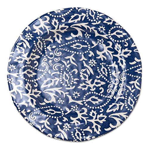 Blue Plate Dinner Room Collection (tag - Artisan Melamine Dinner Plate, Durable, BPA-Free and Great for Outdoor or Casual Meals, Blue (Set of 4))