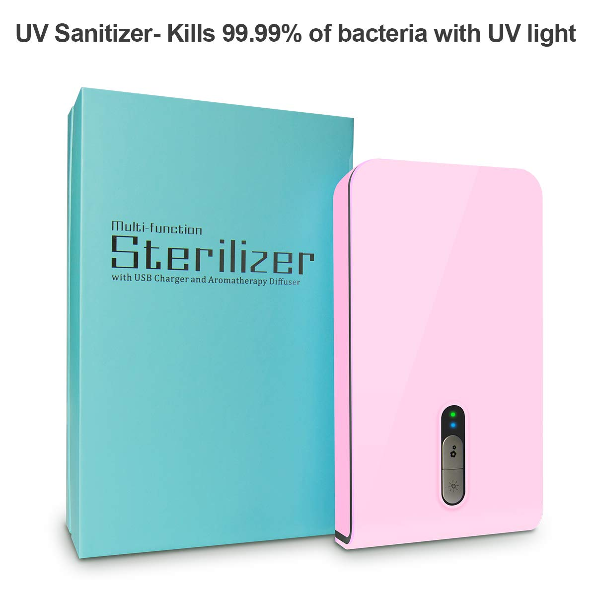 KMESOYI UV Phone Sanitizer Sterilize Cleaner - Pink