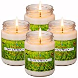 Citronella Mosquito Repellent Candles Scented Soy Wax (Set of 4), Indoor/Outdoor – Naturally Repels Insects with Essential Oils