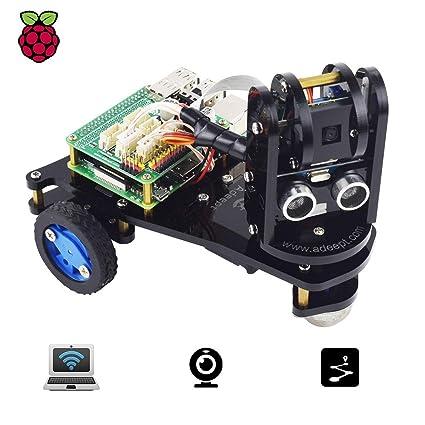Adeept PiCar-A Wireless WiFi 3WD Smart Robot Car Kit for Raspberry Pi 3  Model B+/B/2B, Real-time Video Transmission, Raspberry Pi STEM Educational