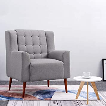 Anaelle Pandamoto Sofa Tissu de lin Moderne Chaise Fauteuil ...