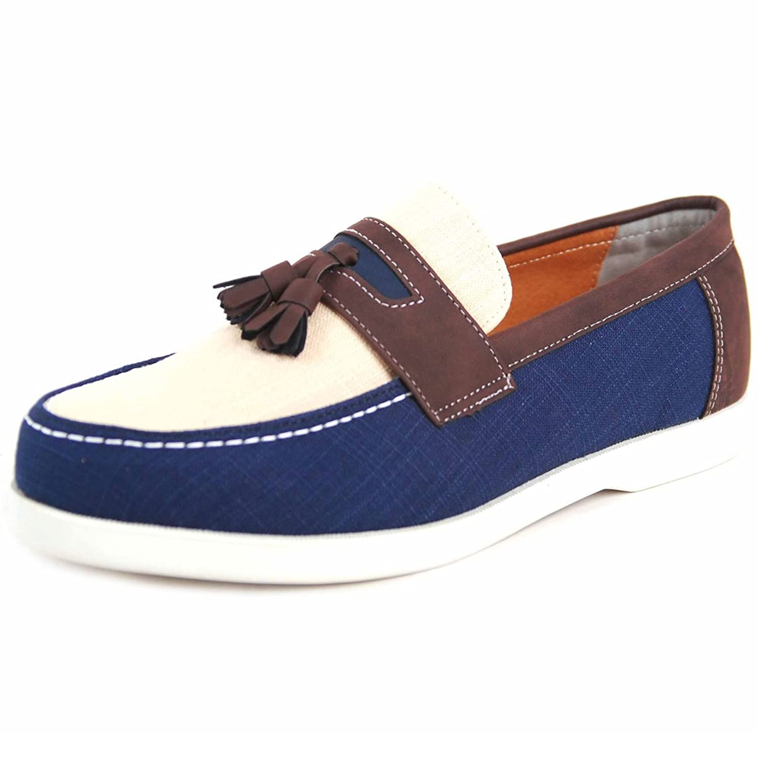 Activity Design Men's Oxford Casual Tessel Loafer Shoes Bh050_3 (9.5, navy)