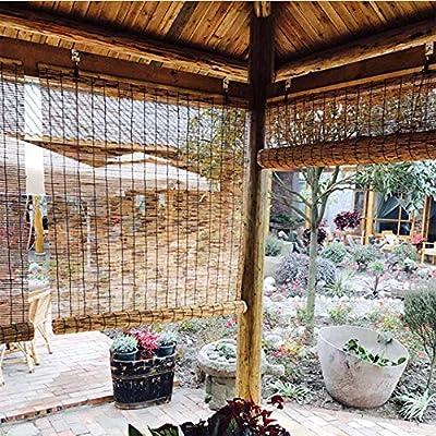 AMTLK Cortinas De Caña, Persiana Enrollable De Bambú Decorativas, Estores De Salón De Té/Jardín, Protección Anticorrosión/UV (se Puede Personalizar): Amazon.es: Hogar