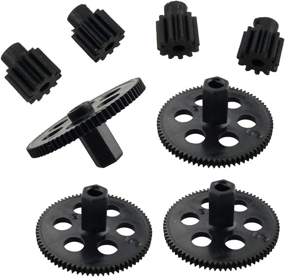 IPOTCH 8pcs//set Main Gears /& Motor Pinions for VISUO XS809 XS809HC XS809HW RC Drone Accessories