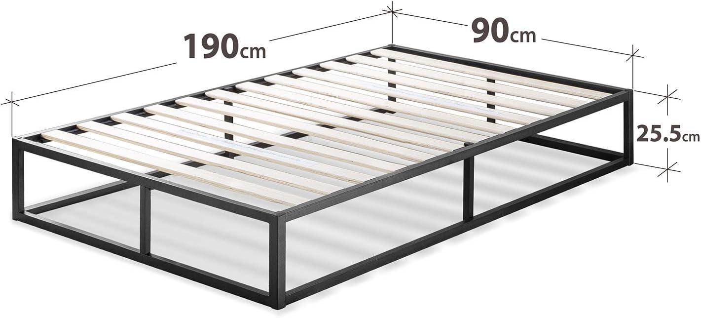 con plataforma Low Proflle Bed Frame Zinus Somier Joseph Modern Studio 135x190x25cm