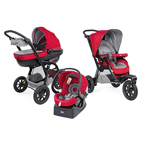 Chicco activ3 Top cochecito combinee Trio Dove Grey rojo Red ...