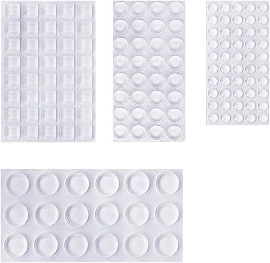 Homvik Lagrimas Silicona Pies de Goma Transparentes Almohadilla Autoadhesiva Gotas Silicona Adhesivas Protector para Patas de Mesa Silla - Transparente