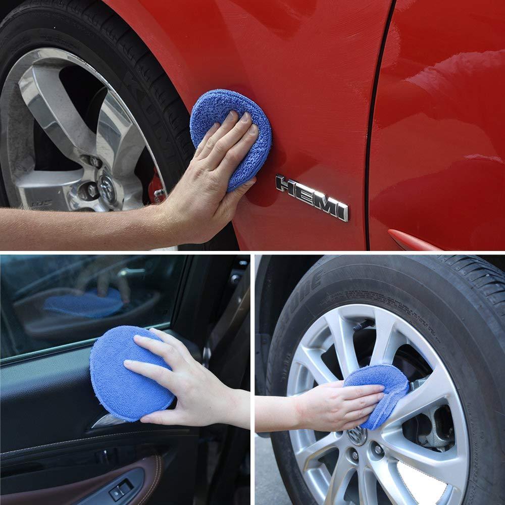 4 Pcs Bleu Pour nettoyer voitures v/éhicule WildAuto -/Éponge cire Polissage /Éponge /éponge Voiture Applicateur /à La Cire Polonais Chaussures Applicateur /éponge Pads De Cire verre
