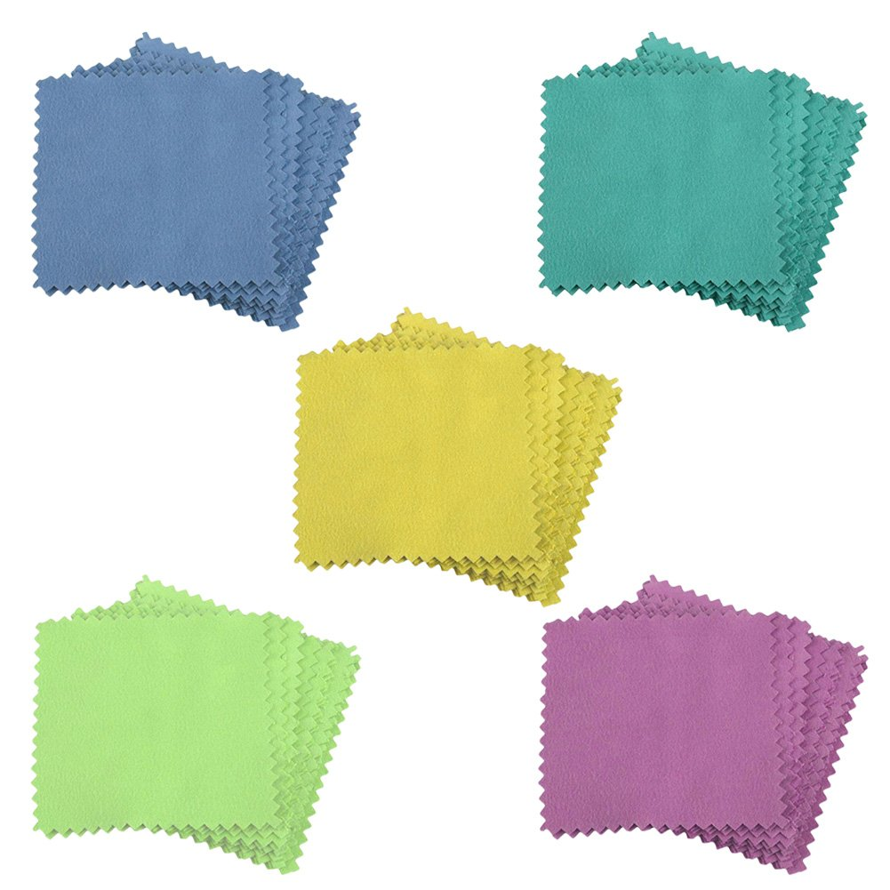 Jewelry Cleaning Cloth Polishing Cloth for Sterling Silver Gold Platinum 10Pcs Kicode