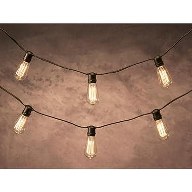 Darice 12' Cleveland Vintage Lighting 10 Edison Light Bulb Socket Cord Set - Black Wire