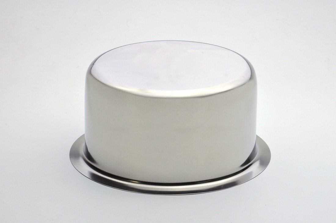 Jagani Steels Grade Stainless Steel Patila Flat Bottom Container Ganj Tapeli With Lid Set